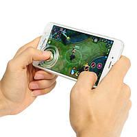 2Pcs Clear Mobile Touch Screen Game Джойстик Контроллер Sucker для планшета мобильного телефона