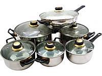 """Посуда нержавеющая для кухни 12 предметов (26-211-005) """"MARTEX"""""""