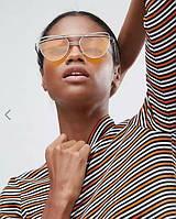 """Солнцезащитные очки """"кошачий глаз"""" с оранжевыми стеклами ASOS"""