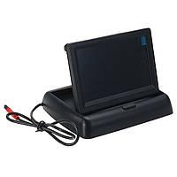 4.3 дюймов Складной LCD Вид сзади Дисплей Монитор+Авто Резервная автостоянка камера