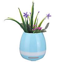 Многофункциональная музыка Цветочный горшок Ваза Touch Растение Фортепиано LED Ночной свет беспроводной Bluetooth Динамик