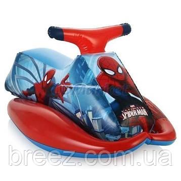 Детский надувной плотик для плавания Bestway Человек-паук 89 х 46 см, фото 2