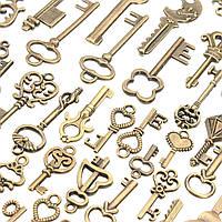 125 штук Винтаж Бронзовый ключ для браслета ожерелья Кулон DIY Украшение ручной работы