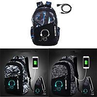 Ночной свет Luminous Рюкзак для ноутбука Путешествия Сумка С Sholuder Сумка и USB Зарядный порт