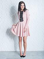 Молодёжное платье с кружевом Мия