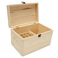 47 Слоты Эфирные масла Деревянные Коробка Контейнер Твердая сосна Чистая натуральная древесина хранения Чехол
