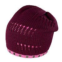 Женская шапка-чулок Anima TM Loman, полушерстяная, цвет лиловый с розовым, фото 1