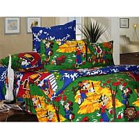 Ткань для детского постельного белья, бязь Микки Маус