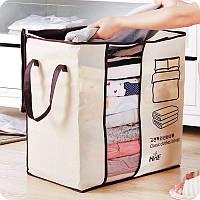 Honana HN-0828 Переносная сумка для хранения Сумка Нетканое одеяло Сумка Шкаф для одежды из подушки Органайзер