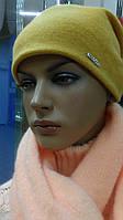 Зимняя женская шерстяная шапка Georgia Kamea, горчичный цвет, фото 1