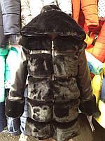 Шуба меховая с капюшоном черная модная для девочки 6 -15 лет, Шубка ХИТ СЕЗОНА