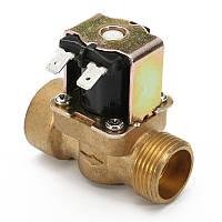 3/4дюймовЭлектрическийэлектромагнитныйклапан12 В постоянного тока VDC Тонкий Латунь NPSM Газ Вода Воздух Н / С
