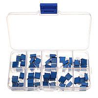 Подстроечные многооборотные резисторы 3296W набор 50шт. - 10 номиналов по 5 штук