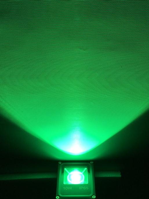 Светодиодный линзованый прожектор SL-10Lens 10W зеленый IP65 Slim Код.59142