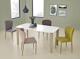 Стол обеденный белый (дуб сонома 160х90х76) WEBER HALMAR