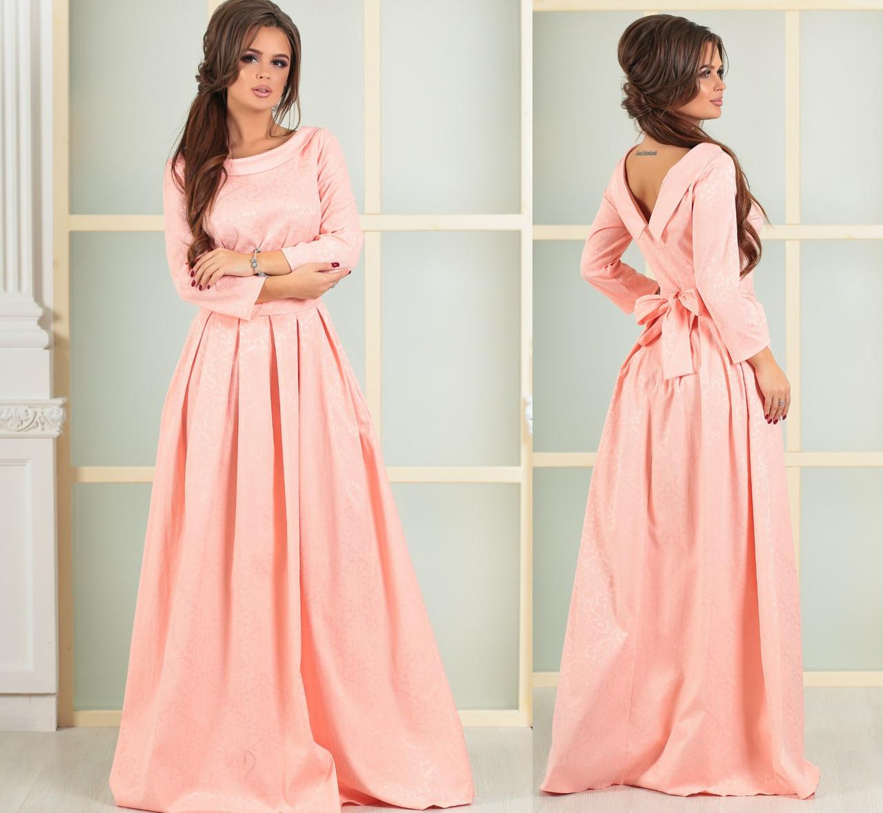 """0c0b039ee59 Купить Платье вечернее длинное """"cафина» розовое оптом и в розницу от ..."""