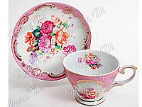 """Керамический чайный сервиз (2 предмета) чашка и блюдце """"BonaDi"""""""