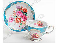 """Сервиз чайный керамический (2 предмета) чашка и блюдце """"BonaDi"""""""
