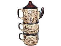 """Чайный набор (3 предмета) Чай вдвоем лепка """"ТОРСКИЙ"""""""