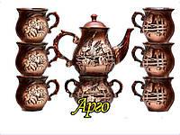 """Сервиз чайный керамический (8 предметов) заварник и сахарница """"Арго"""""""