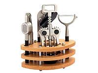"""Набор кухонных принадлежностей на деревянной стойке(4 предмета) 29-44-229 """"KRAUFF"""""""