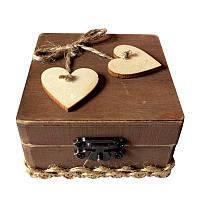 Rustic Свадебное Персонализированный рингер Коробка Любящий Свадебное Подарок