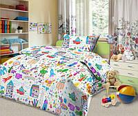 Ткань для детского постельного белья,бязь Каляка-Маляка