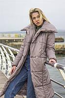 """Длинное теплое пальто """"Barker"""" на кнопках (1 цвет)"""