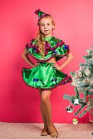 Новогодний карнавальный костюм для девочки Ёлочка 3-8 лет. Оптом