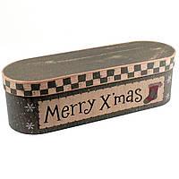Подарочная коробка Merry Xmas 38.5 x 12.5 x 11 см