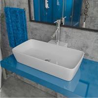 Умывальник накладной на столешницу Kerabad KB-PL 259 (раковина в ванную комнату) 55*40 Прямоугольная форма
