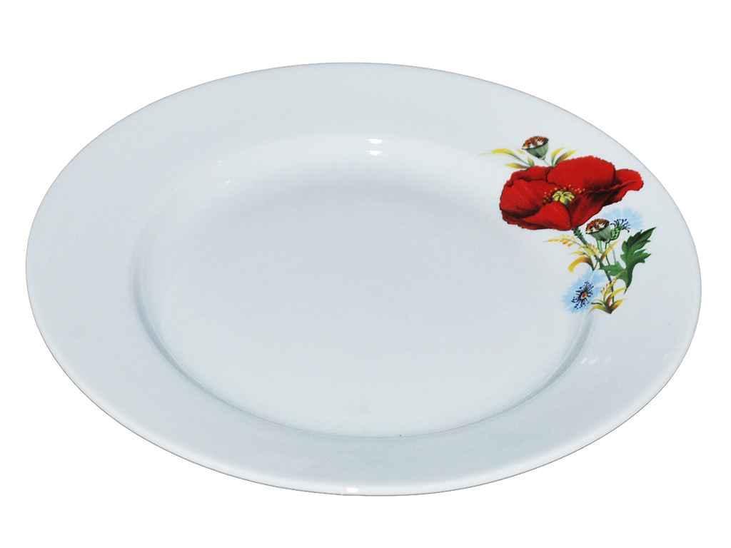 """Набор мелких керамических тарелок """"Мак"""" (d-20 см, 12 шт в упаковке) """"ДФЗ"""""""