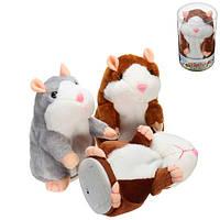 Мимика Говорящая игрушка хомяка 15см Рождественский подарок Плюшевые игрушки Симпатичный говорящий звуковой Хомяк записи Фаршированные