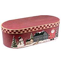 """Большая подарочная коробка """"Рождество в городе"""" 53 x 22.5 x 14 см"""