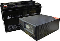 Комплект резервного питания ИБП Luxeon UPS-500ZR + АКБ Luxeon LX12-100MG для 7-12ч работы газового котла