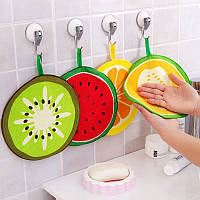 Honana 4Pcs Fruit Шаблон Полотенце Впитывающая ткань Кухня Полотенце Носовой платок Быстро-сухая чистка Rag Dish Cloth Салфетка для вытирания
