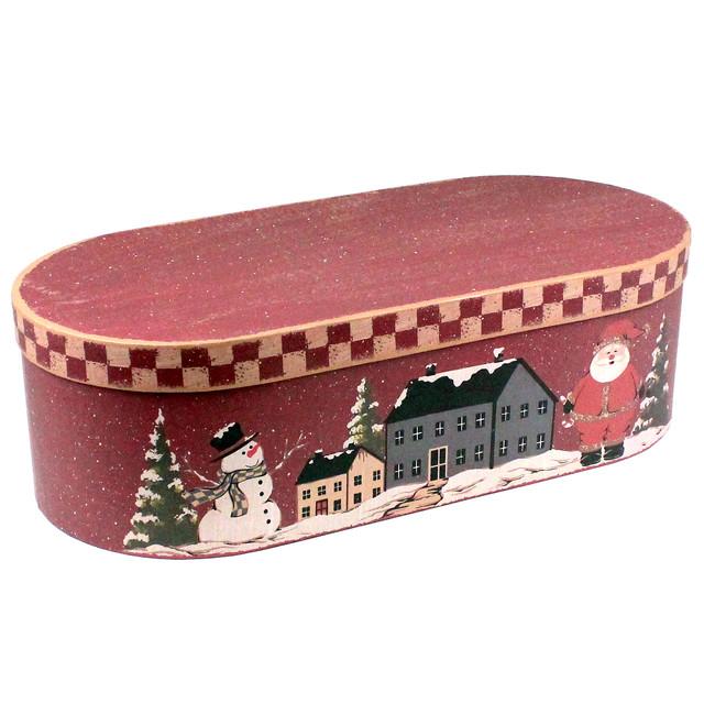 """Подарочная коробка """"Рождество в городе"""" 53 x 22.5 x 14 см"""