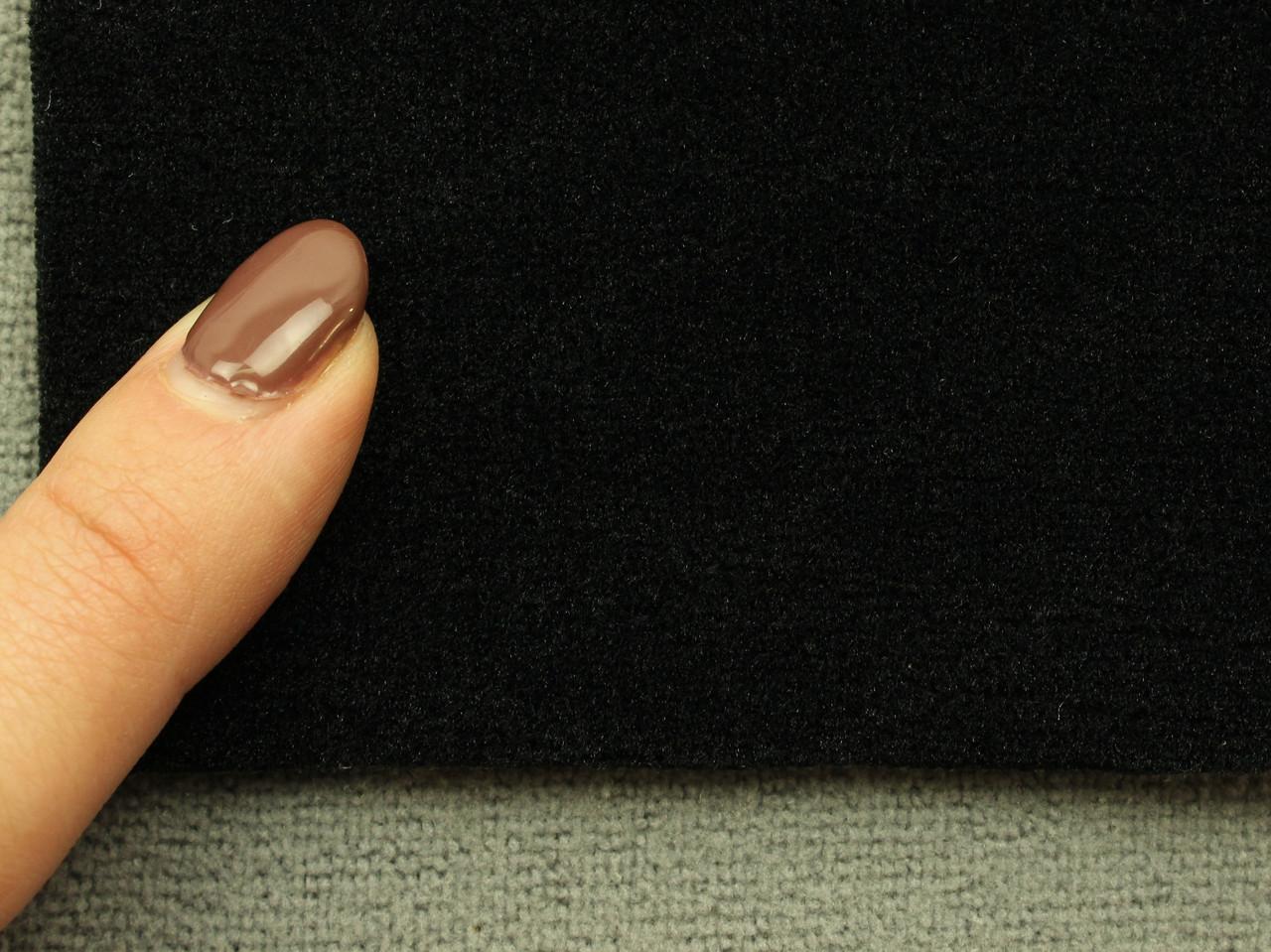 Автоткань оригинальная потолочная, цвет черный, на поролоне (сетка) (Германия)