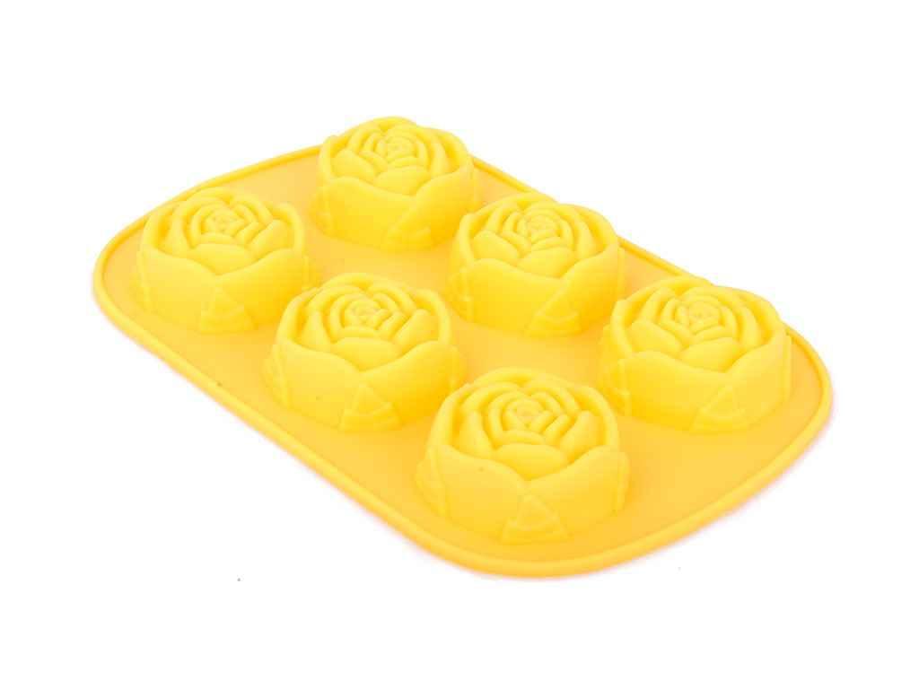 Форма для выпечки кексов силиконовая Розы 6 шт 0056 ТМ EMPIRE