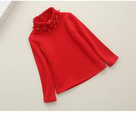 Водолазки детские.Красная водолазка для девочки утеплення, фото 2