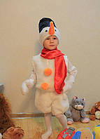 Детский новогодний карнавальный костюм Снеговик 3-7 лет