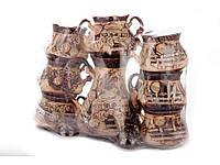 """Сервиз чайный керамический (8 предметов) заварник и сахарница """"Сонет"""""""