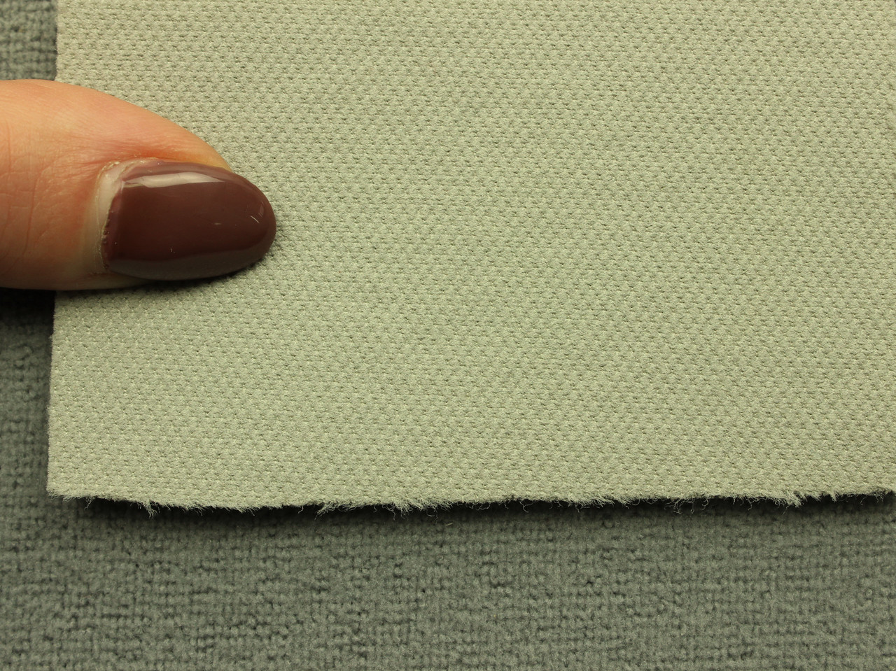 Автоткань оригинальная потолочная, цвет светло-серый, на поролоне (сетка) (Германия)