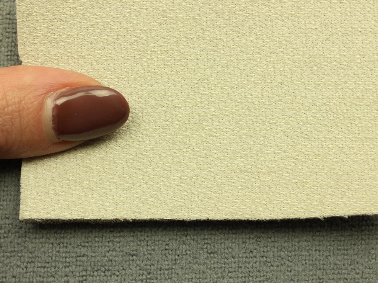 Автоткань оригинальная потолочная, цвет светло-бежевый, на поролоне (Германия)