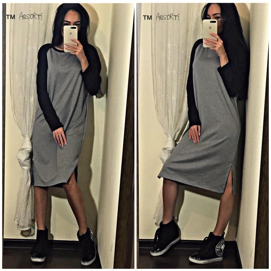 aafb2c9806e Свободное платье- миди - RUSH STORE интернет-магазин женской одежды в  Николаеве