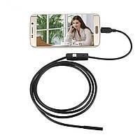 720P HD Проверка объектива на 7 мм Труба Водонепроницаемы 1 м Эндоскоп с боковыми зеркалами micro USB камера Для И