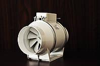 Вентилятор канальный TURBO-100, вентилятор двухскоросной, вентилятор бытовой