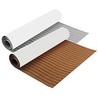 300x90x0.6cm EVA Пена коричневый/серый с черной линией Лодка Настил Faux Teak Decking Sheet