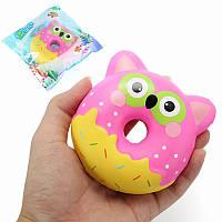 Squishy Factory Сова Пончик 10см Мягкая медленная роспись с упаковкой Коллекция подарков Декор Игрушка