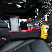 Пара Авто Держатель для хранения сидений Сумка Монета Коробка Держатель чашки для напитков Кожаный фланец для автомобилей Seat Pocket